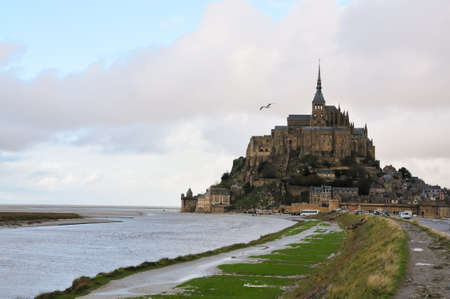 michel: Famous Mont Saint Michel in Normandy, France Stock Photo
