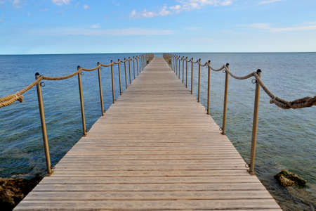 landing stage: Landing stage on a summer day in tunisia Stock Photo
