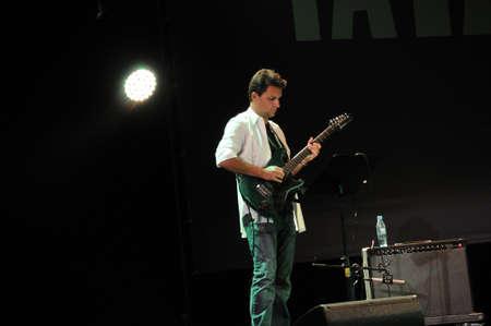 saalfelden: SAALFELDEN, AUSTRIA - AUG 28: Michel Delville of the Band TZGIV performing at Jazzfestival Saalfelden at Congresscenter Saalfelden, Austria.  Editorial
