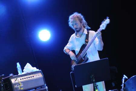 saalfelden: SAALFELDEN, AUSTRIA - AUG 28: Damien Campion of the Band TZGIV performing at Jazzfestival Saalfelden at Congresscenter Saalfelden, Austria.  Editorial