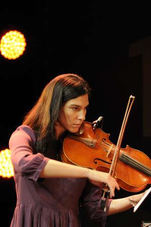 SAALFELDEN, AUSTRIA - AUG 28: Jazz Celebrity Jessica Pavone performing at Jazzfestival Saalfelden at Congresscenter Saalfelden, Austria.