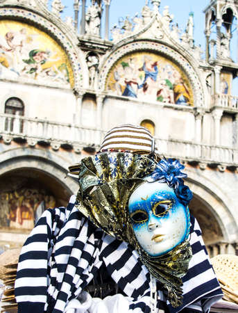 saint marco: Carnival mask at the Piazza San Marco, in Venice, Italy