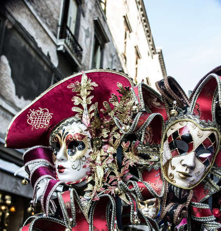 Two Carnival masks in Venice photo