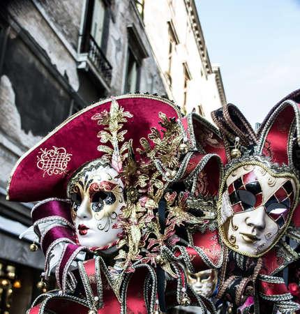 Two Carnival masks in Venice Stock Photo - 15500852