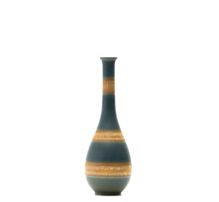 Modern Pottery Vase With Beautiful Patterns Isolated On White