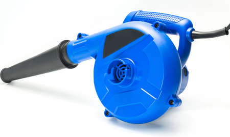 Blue blowers tool on white background