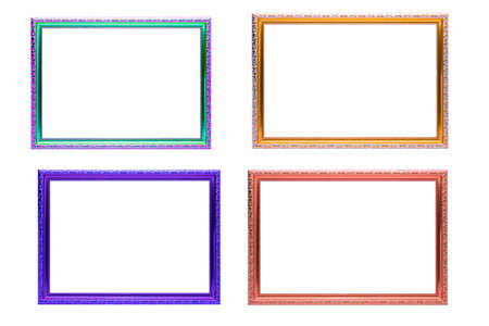 09fef6b56a0f Set of colorful frames vintage style isolated on white background. Stock  Photo - 84550559