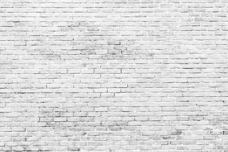 White and grey brick wall texture background with space for text. White bricks wallpaper. Home interior decoration. Architecture concept. Background for sad, hopeless and despair concept. Stockfoto