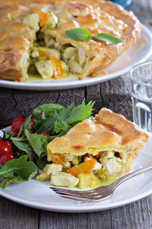 savory: Chicken curry savory pie