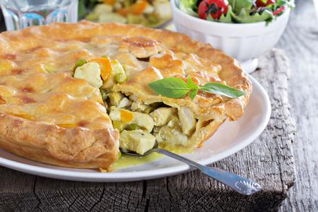 Chicken curry savory pie photo