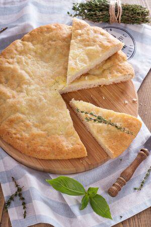 yeast: Traditional yeast flatbread with potato