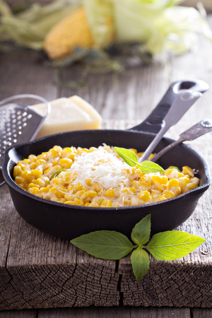 creamy: Creamy corn with parmesan