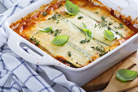 Courgettes santé lasagne bolognaise Banque d'images - 38875421