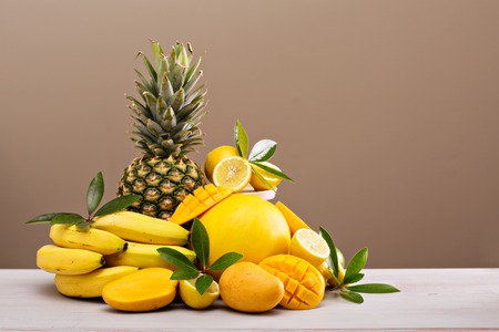 tropical fruits: Tropical fruits on the table