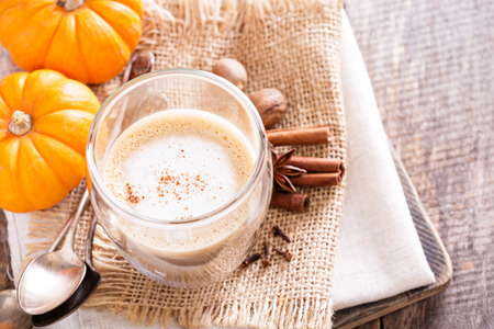 spices: Pumpkin spice latte with spices and pumpkin puree