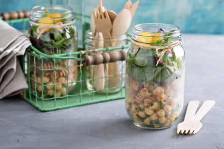 meal: Assembling a mason jar salad