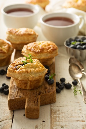 Puff pastries with goat cheese and berry filling