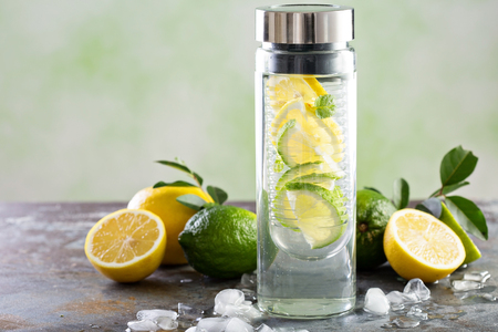 Infused detox water Stock Photo