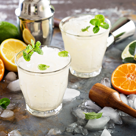 ice crushed: Refreshing summer cocktail with crushed ice