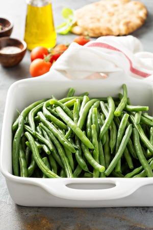 green beans: Blanched green beans