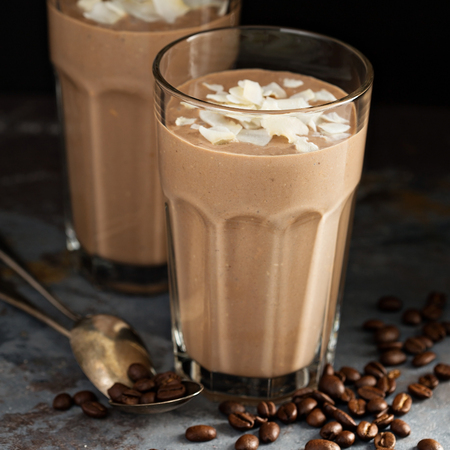 Coffee smoothie with coconut