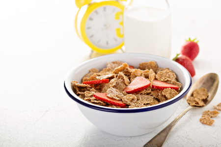 Multigrain healthy cereals with fresh berry Stok Fotoğraf