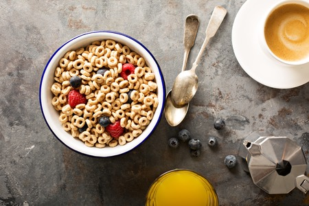 Healthy cold cereal in a bowl Imagens