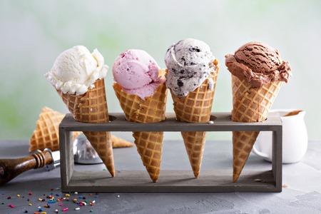 다양한 아이스크림 콘