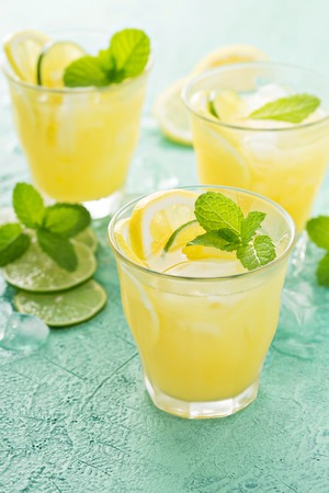 Refreshing citrus cocktail with lemon Stock Photo - 81600049