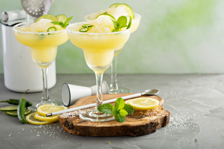 Refreshing summer margarita cocktail