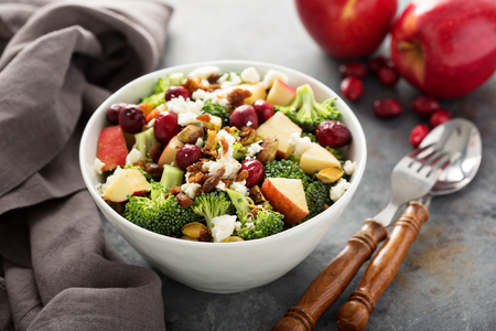 Fall salad with apple and cranberry
