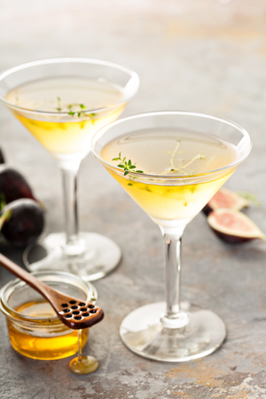 Fig and honey martini