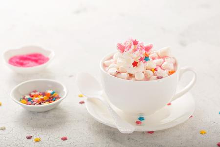 유니콘 핫 초콜릿