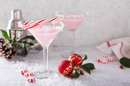 Pepermunt martini's voor Kerstmis