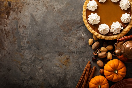 Pumpkin pie with whipped cream Banco de Imagens