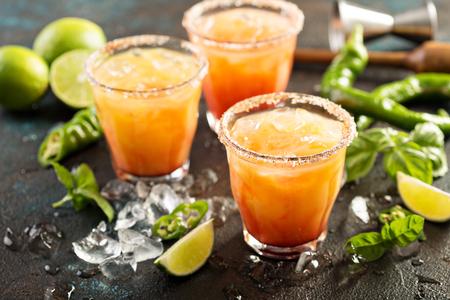 Tequila sunrise margarita Stock Photo