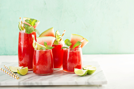 スイカ夏の飲み物 写真素材