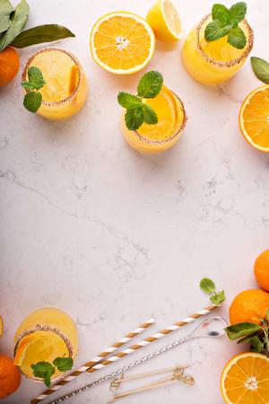 Orange and lemon margarita cocktail Zdjęcie Seryjne