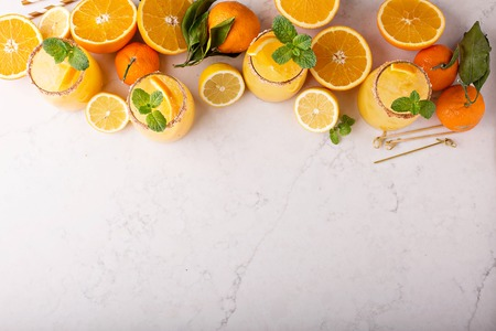 Orange and lemon margarita cocktail Stock Photo