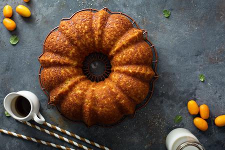 Winter citrus pound bundt cake