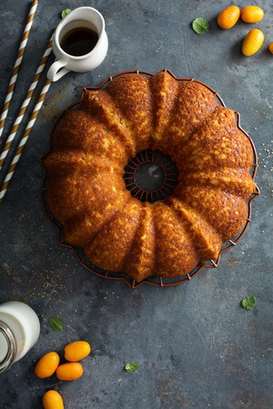 Winter citrus pound bundt cake