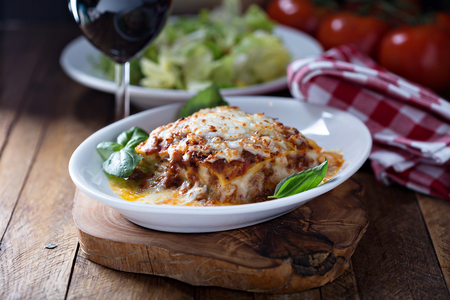 Traditional lasagna with bolognese sauce Stockfoto