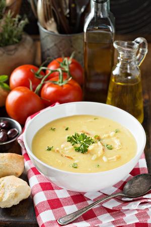 Creamy lemon chicken soup