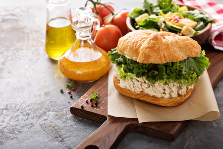 Chicken salad sandwich with lettuce 免版税图像