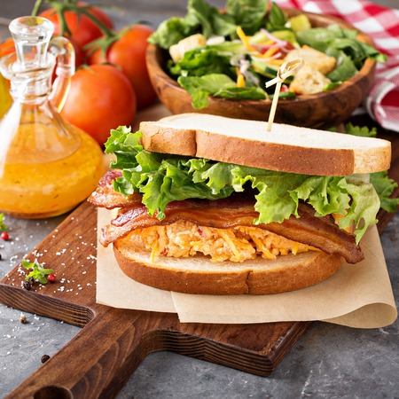 Pimento cheese sandwich with bacon Standard-Bild - 98985156