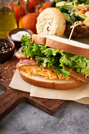 Pimento cheese sandwich with bacon