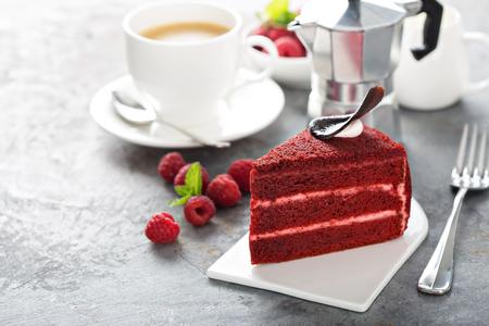 Red velvet cake slice Banco de Imagens