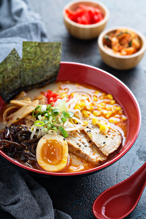 Ramen bowl with noodles and pork