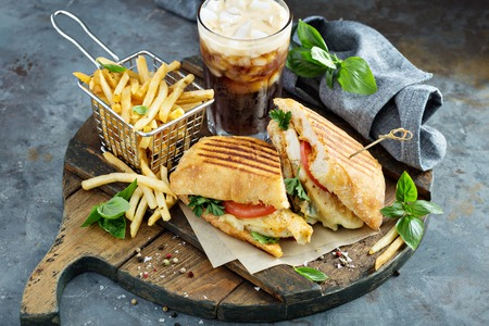 Panini sandwich with chicken and cheese Banque d'images - 103968565