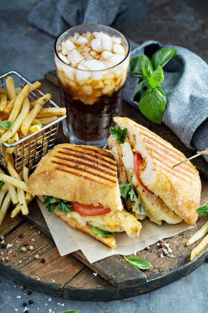 Panini sandwich with chicken and cheese Banque d'images - 103968567